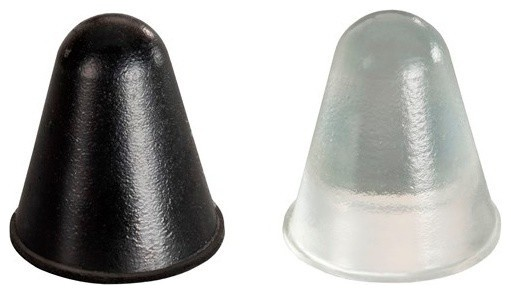 """Conical Adhesive Cabinet & Furniture Rubber Spacers-BS57 .787""""x.886""""-25pcs - Traditional ..."""