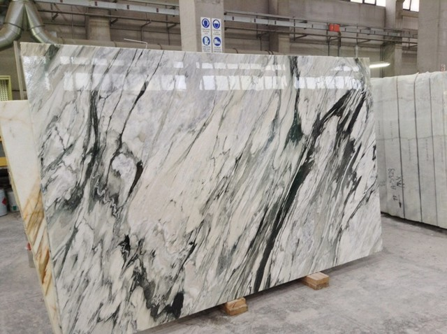 CALACATTA BLACK VEIN SLABS - Contemporary - Kitchen Countertops - los angeles - by Royal Stone ...