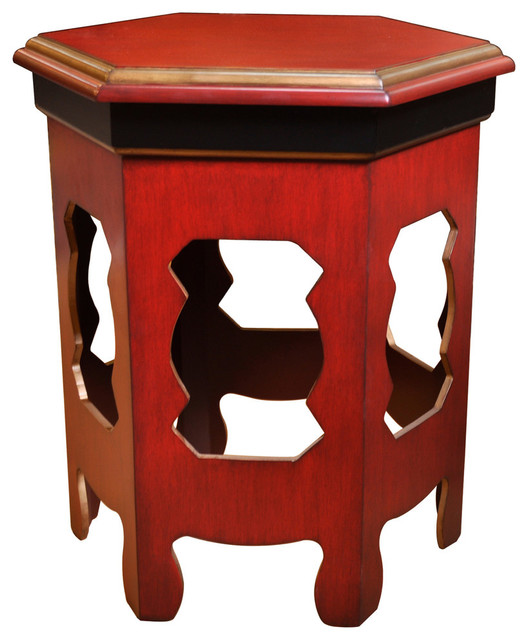 distressed red accent tables 1