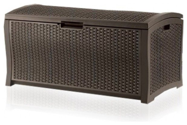 Resin Wicker Deck Box Contemporary Deck Boxes And