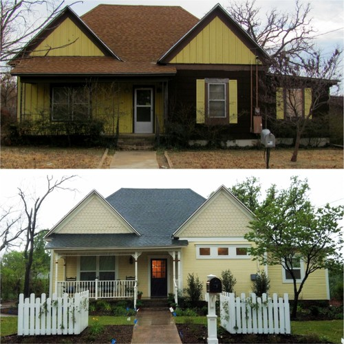 Before and after 100 year old house renovation for Home renovation before and after
