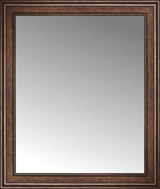 36 x 42 arqadia bronze traditional custom framed mirror