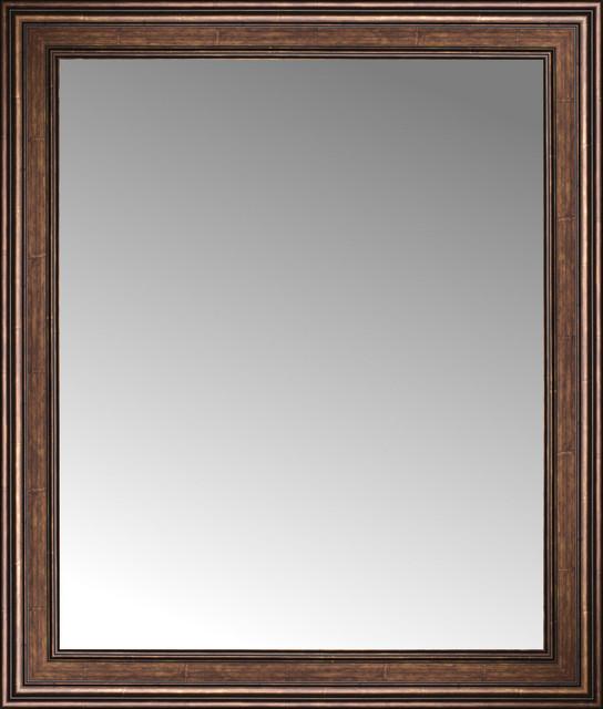 36 x 42 arqadia bronze traditional custom framed mirror