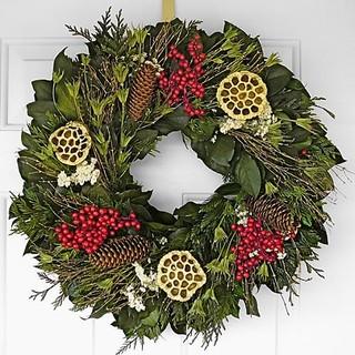 "Park Avenue Holiday Christmas Wreath - 30"" Christmas Decor - Traditional - Holiday Decorations ..."