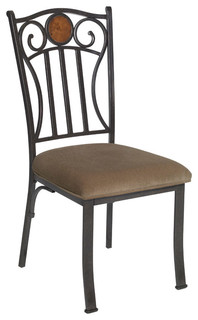 2 piece modern stylish design sturdy metal dining side chair soft fabric seat contemporary - Sturdy dining room chairs ...