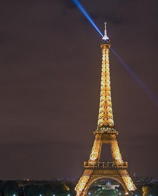 Eiffel tower at night harrington wall mural for Eiffel tower wall mural ikea