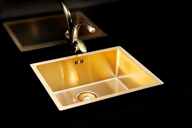 Gold kitchen sink and tap Kitchen Sinks east anglia