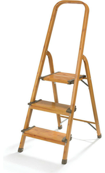 Polder Ldr 3500 83 Aluminum Folding 3 Step Stool Wood