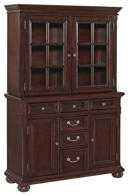 Colonial Classic Buffet and Hutch - Traditional - China Cabinets And Hutches - by Home Styles ...