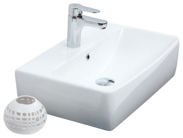 22 Inch Wall Mounted Or Vessel Sink Contemporary Bathroom Sinks By Thebathoutlet