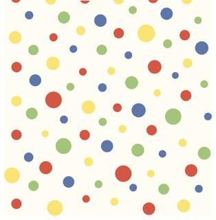 Gir95633 Dotty Kids Girl Polka Dot Wallpaper Sample