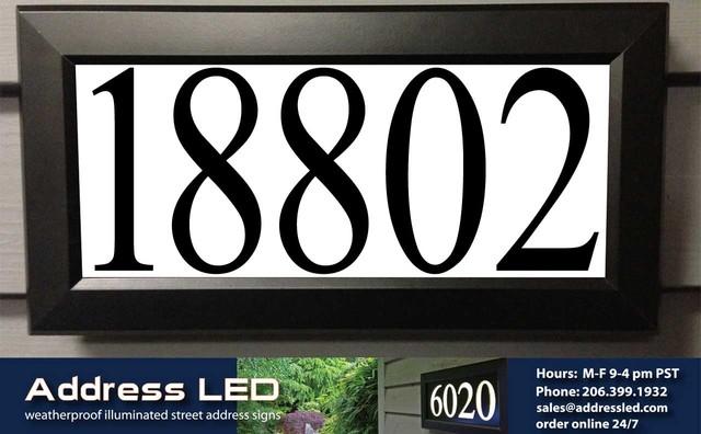 Illuminated Address Number
