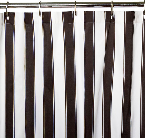 Black And White Stripe Shower Curtain Modern Shower Curtains By Sin In Linen