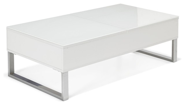 Kandis table basse avec tablettes relevables contemporain table basse p - Table basse avec tablette ...