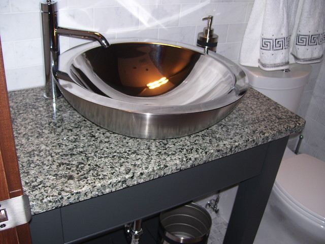 Stainless Steel Vessel Bowl - Modern - Bathroom Sinks ...