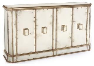 John richard juno foxed mirror 4 dr credenza eur 04 0169 Modern furniture charlotte