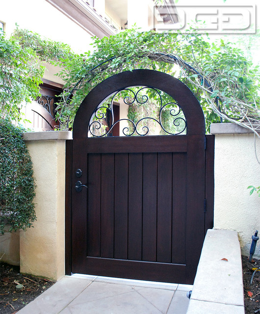 Mediterranean Style Front Doors: Arched French Mediterranean Style Gate In Solid Mahogany