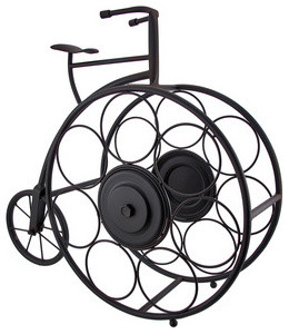 Antique Bicycle Tabletop 7 Bottle Wine Rack - Contemporary - Wine Racks - by Zeckos