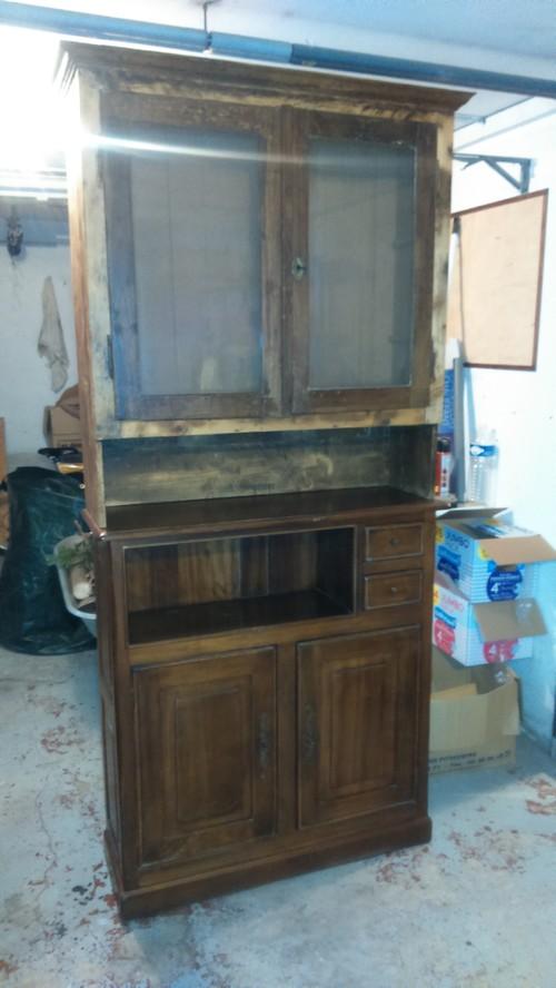 Meuble salle de bain - Decaper un meuble vernis ...