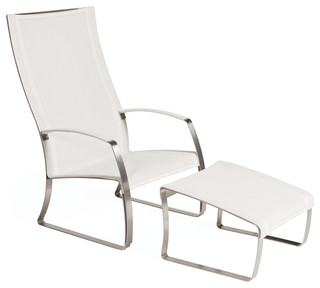 Kai Lounge Chair And Ottoman Set Modern Garden Lounge Chairs By Seasona