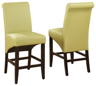 cosmo sleigh back stool in kiwi set of 2 contemporary