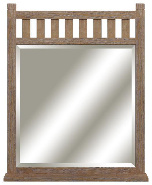 Toby Framed Mirror Beach Style Bathroom Mirrors by