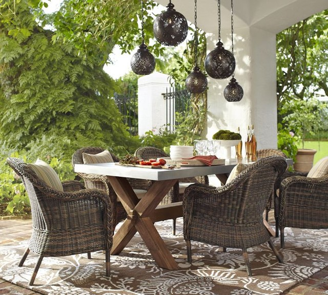 small outdoor wicker dining chairs 2
