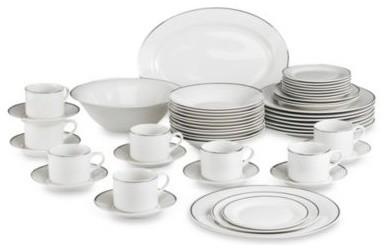 Gibson Home Studio Platinum 50 Piece Dinnerware Set