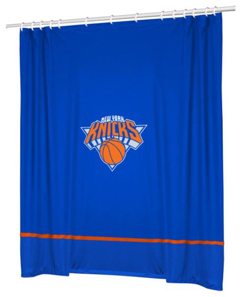 Nba New York Knicks Basketball Bathroom Shower Curtain