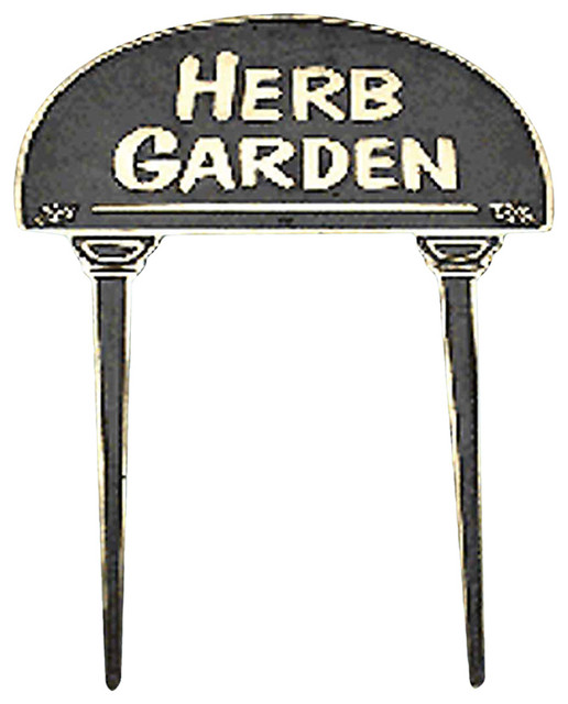 garden signs polished brass garden sign herb 17135 transitional