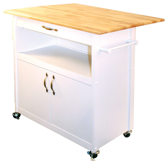 Drop leaf utility cart traditional kitchen islands and for Kitchen utility cart