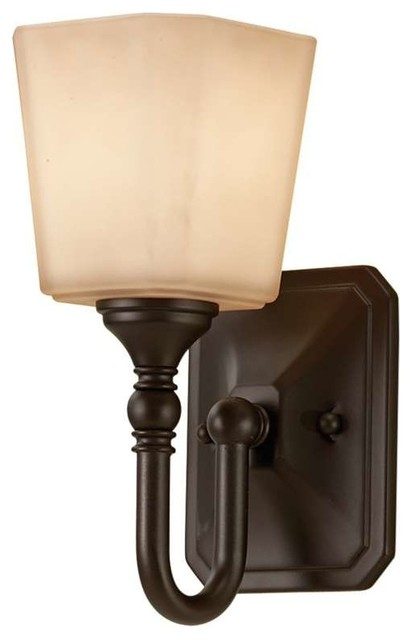 Feiss Vs19701 Orb Concord 1 Light Oil Rubbed Bronze Bathroom Wall Sconce Transitional