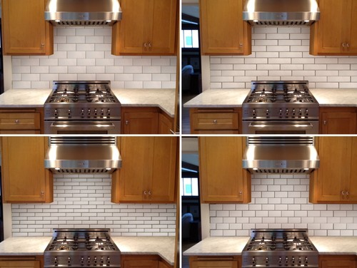 Subway Tile Layout And Size
