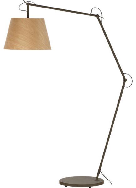polygon floor lamp modern floor lamps by cb2. Black Bedroom Furniture Sets. Home Design Ideas