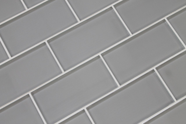 Gray porcelain subway tile