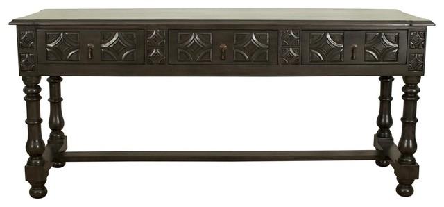 Noir graf console pale contemporary console tables - Table console noire ...