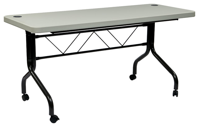 5 Resin Multi Purpose Flip Table With Locking Casters