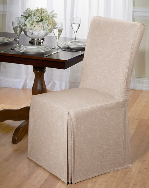 Chambray Cotton Dining Chair Slipcover Contemporary  : contemporary dining chairs from www.houzz.com.au size 506 x 640 jpeg 63kB
