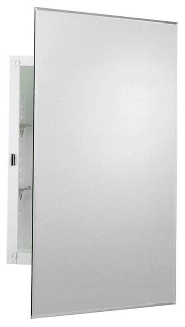 Frameless Mirrored Swing Door Recessed Medicine Cabinet 16 X24
