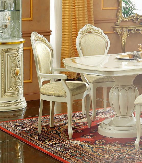 Traditional dining chair leonardo armchair traditional for Leonardo s dining room