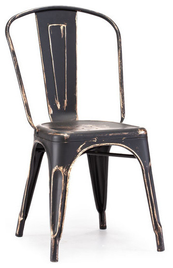 Elio chair antique black gold rustic dining chairs by zopalo