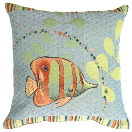 Pillow Decor - Tropical Fish French Tapestry Throw Pillow - Decorative Pillows - by Pillow Decor ...
