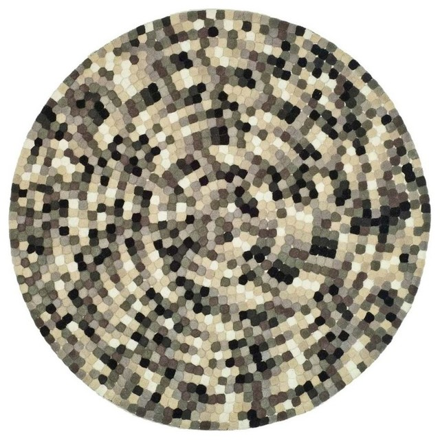 6 ft contemporary round rug contemporary area rugs for Modern round area rugs