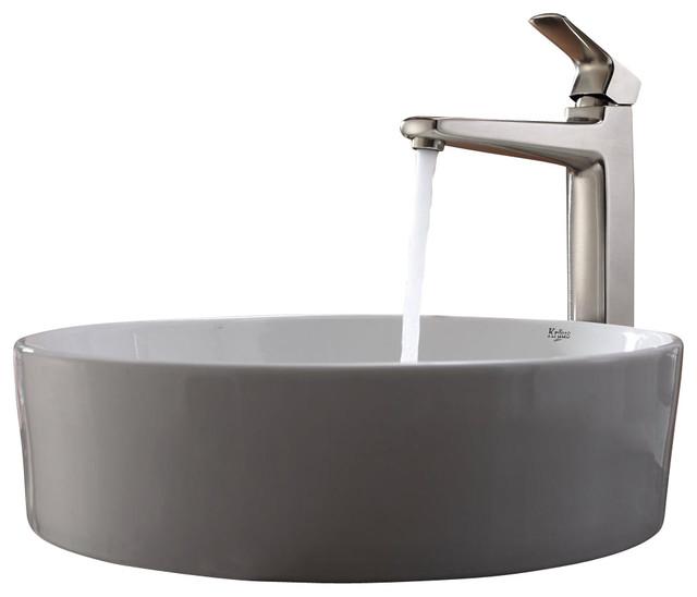 Kraus Sinks Uk : Kraus Sink Virtus Faucet Brushed Nickel - Modern - Bathroom Sinks - by ...