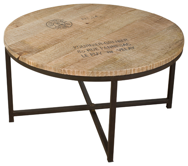 Ayodhya Round Coffee Table Industrial Coffee Tables