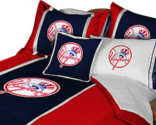 MLB NY New York Yankees Baseball Full Double Bedding Set Contemporary Kid