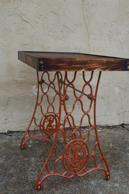 Singer sewing machine table - Eclectic - Side Tables And ...