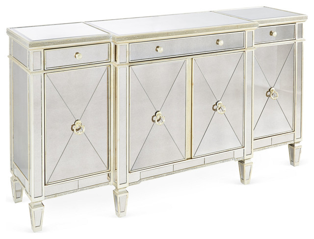 """Roscoe 70"""" Mirrored Buffet contemporary-buffets-and-sideboards"""