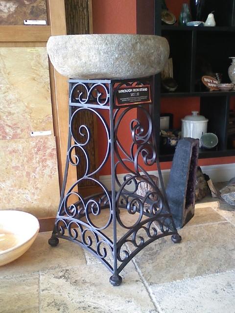 Wrought Iron Ideas Mediterranean Bathroom Vanities And Sink Consoles Orlando By Art Iron