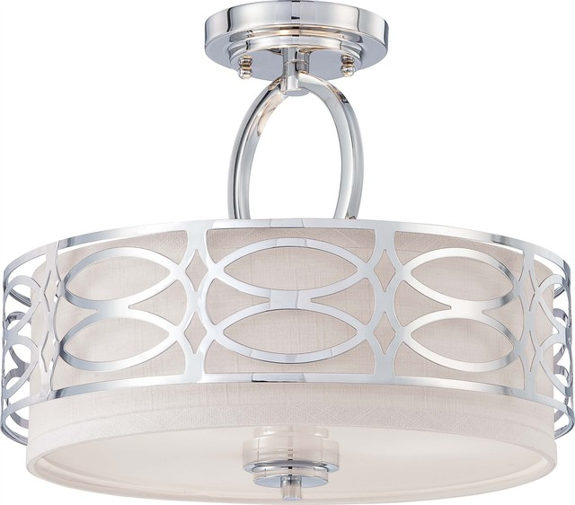 Satco Harlow Contemporary Modern Semi Flush Mount Ceiling Light X 9264 06